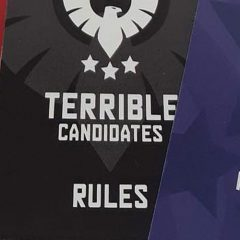 Terrible Candidates card game – Shout-Out!