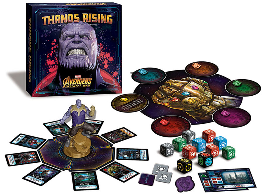 Thanos Rising board game review written box contents / components